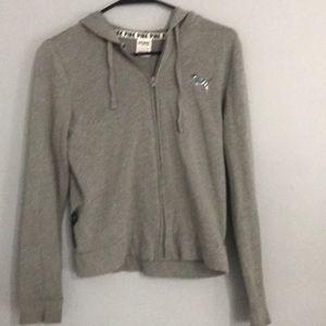 Pink, grey hoodie